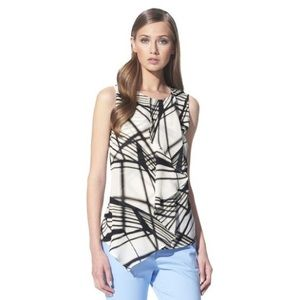 Phillip Lim for Target Ruffle Tank Powerline Print